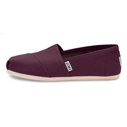 TOMS Women's Classic Canvas Slip-On Red Mahogany