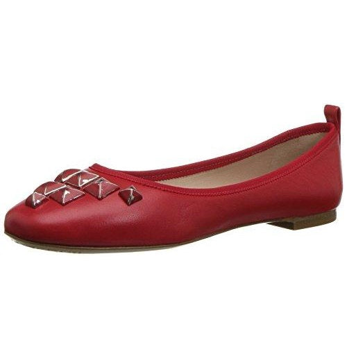 Marc Jacobs Women's Cleo Studded Ballerina Ballet Flat Red