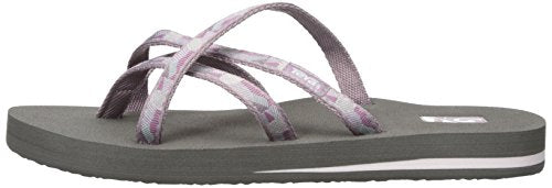 Teva Women's Olowahu Flip-Flop Waterfall Elderberry Gray Purple