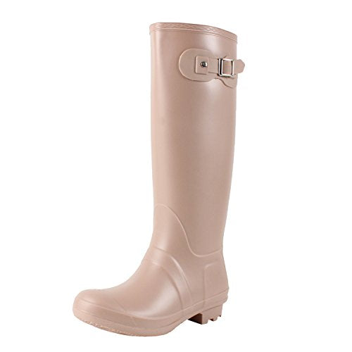 Guilty Heart - Seattlev2.0 Waterproof Tall Buckle Wellington Rainboot Boots