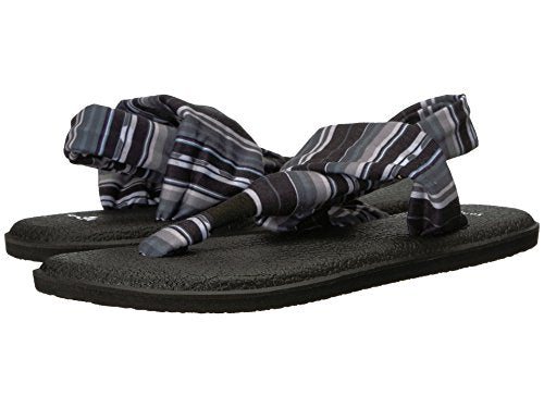 Sanuk Women's W Yoga Sling 2 Prints Sandal Black White Blanket