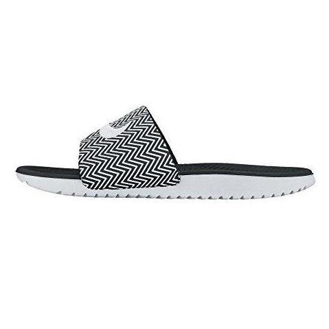 Nike Womens Kawa Slide Print Sandal Black White