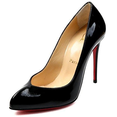 Christian Louboutin Women's Patent Leather Almond Toe Heels Black