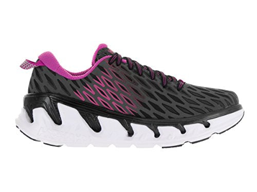 Hoka One One Womens Vanquish 2 Black/Fuchsia Running Shoe Women US