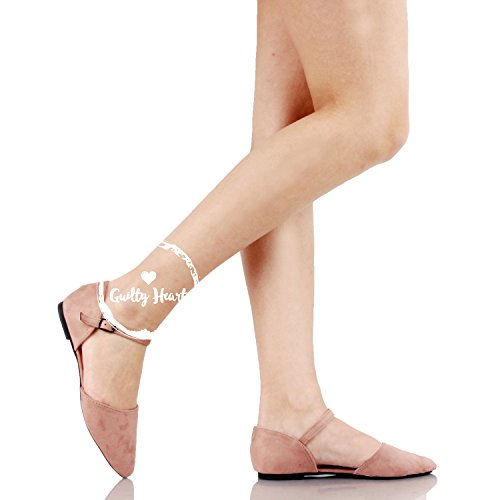 Guilty Heart Womens D'Orsay Ankle Strap Almond Pointed Toe Comfortable Suede Flats Mauvev Suede