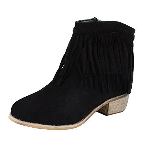Guilty Heart - Womens Western Cowboy Bootie Fringe Moccasin Ankle Boots (previously Guilty Shoes)
