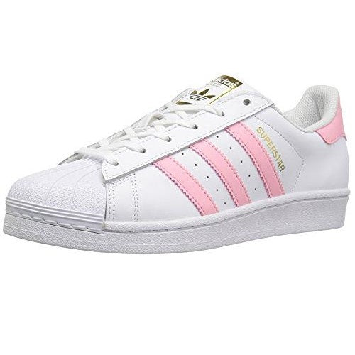 adidas Originals Women's Shoes Superstar Fashion Sneakers White/Clear Light Pink Metallic/Gold