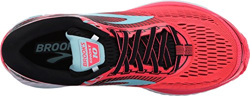 Brooks Women's Ghost 10 Diva Pink/Black/Iceland Blue