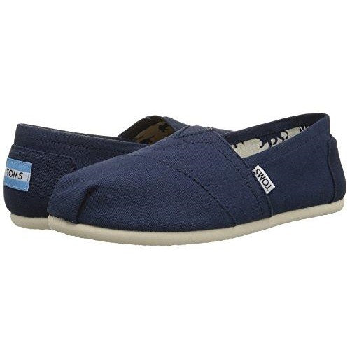 TOMS Women's Classic Canvas Slip-On Navy