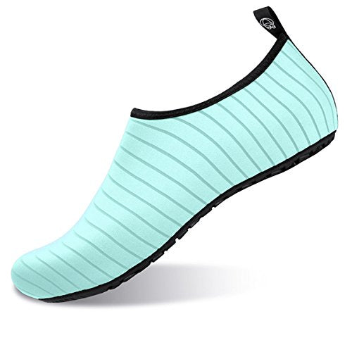 Women's Barefoot Water Skin Shoes Aqua Socks for Pool Sand Swim Surf Green