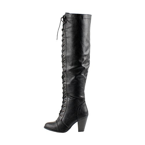 Guilty Heart - Durban Lace Up Over The Knee Thigh High Boots (Previously West Blvd)