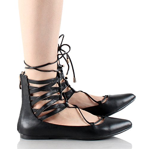 Guilty Heart - Naples Ballet Lace Up Flats (Previously West Blvd)