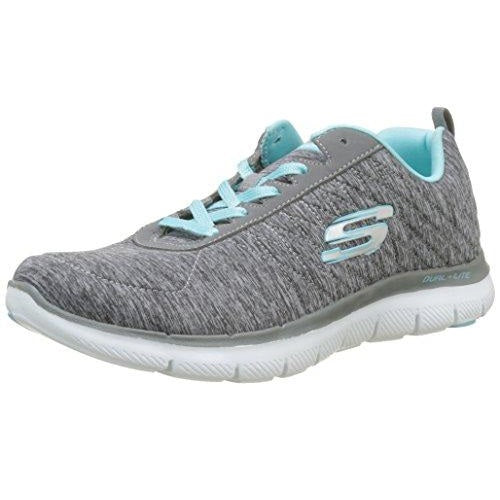 Skechers Women's Flex Appeal 2.0 Sneaker Gray Light Blue