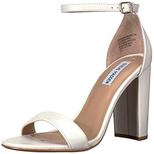 Steve Madden Women's Carrson Dress Sandal White Leather