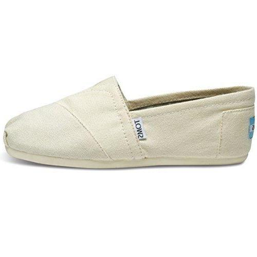 Toms Natural Canvas Classic 001001B07-LTBGE Womens