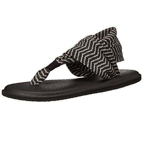 Sanuk Women's Yoga Sling 2 Prints Flip Flop Black Natural Congo