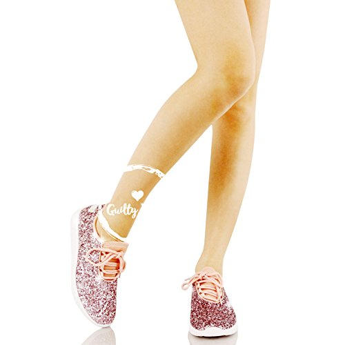 Guilty Shoes Fashion Glitter - Lace up Slip On Wedge Platform Sneaker Boots Pink Glitter