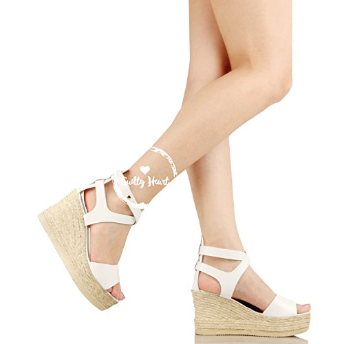 bda464ff7372 Guilty Heart Womens Casual Comfortable Braided Bottom Platofrm Open Toe  Summer Wedge Sandal Platforms   Wedges ...