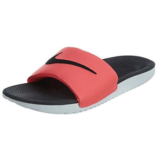 NIKE Women's Kawa Slide Sandal, Hyper Punch Black White