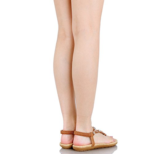 d50f39159dd35 Guilty Shoes | Guilty Heart Womens Summer Strappy Gladiator Bead ...