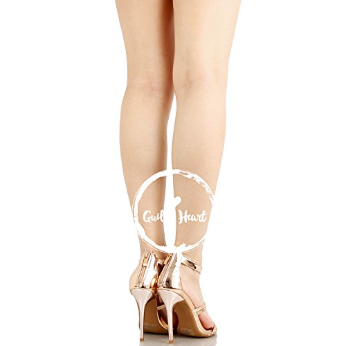 Guilty Shoes Women Glamour Sexy Metallic Ankle Strap Zip up Dress Sandal Sandals Rose Gold Pu
