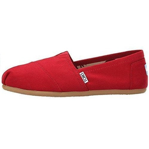 Toms Womens Classic Slip-Ons Red