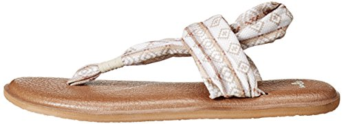 Sanuk Women's Yoga Sling 2 Prints Flip Flop Natural Multi Tribal Stripe