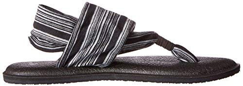 Sanuk Women's Yoga Sling 2 Black White Blanket