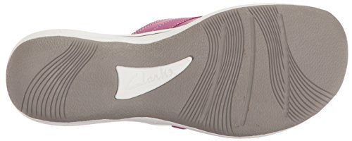 CLARKS Women's Breeze Sea Platform Magenta Synthetic