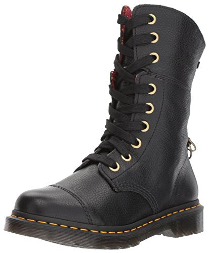Dr. Martens Women's Aimilita Aunt Sally Leather Fashion Boot Black