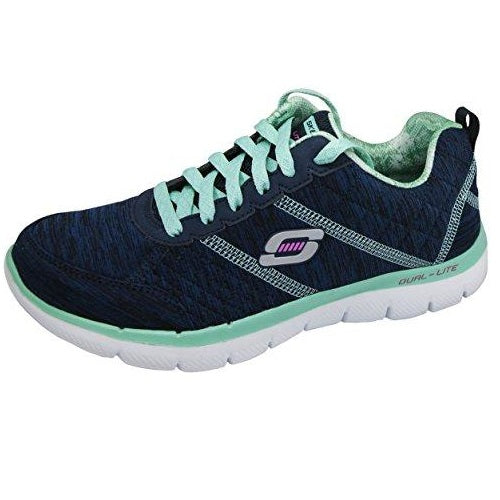 Skechers Sport Women's Flex Appeal 2.0 Fashion Sneaker Navy Aqua
