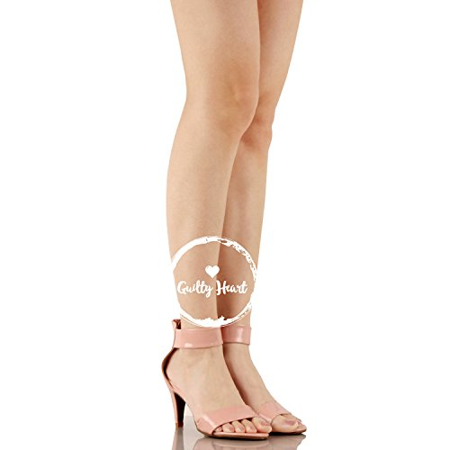 Guilty Shoes Womens Classic Comfort Sexy Open Toe Ankle Strap Dress Stiletto Kitten Heel Sandals Sandals Mauve Patent