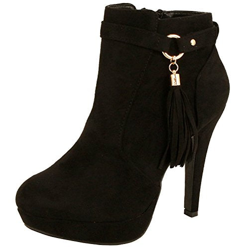 Guilty Heart - Tassel Fringe - Stiletto Platform Heel Sexy Ankle Bootie (Previously Guilty Shoes)
