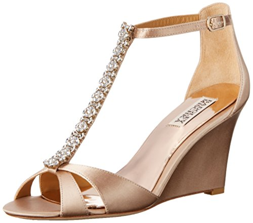Badgley Mischka Women's Romance Wedge Sandal Latte