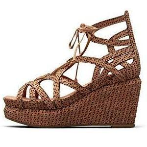 Gentle Souls by Kenneth Cole Joy Lace Up Cork Wedge Women's