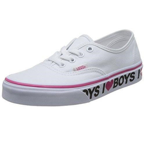 Vans Unisex Authentic (I Love Boys) True White/Beet Purple Skate Shoe