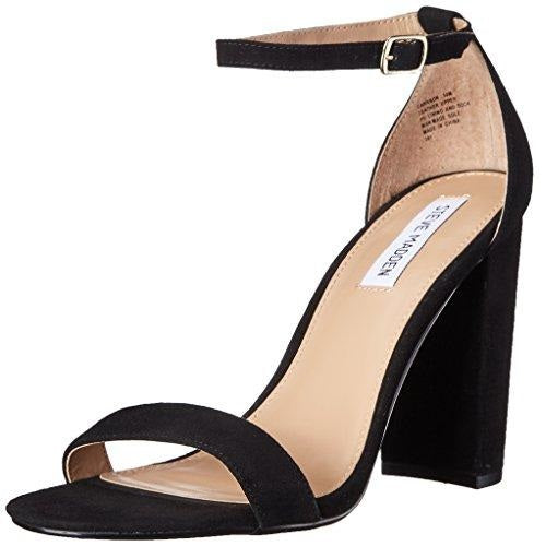 Steve Madden Women's Carrson Dress Sandal Black Suede