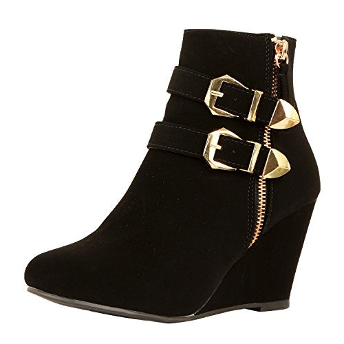 Guilty Heart - Amman Ankle Wedges Boots, (Previously West Blvd)