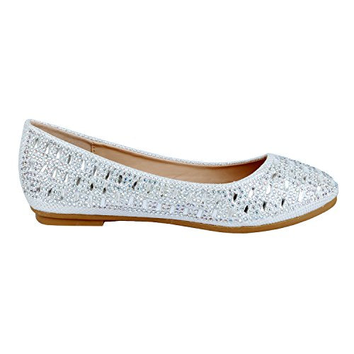 Guilty Heart Princess Classic Slip On Ballerina Ballet Flats White Line