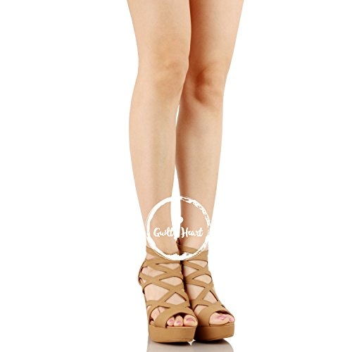 2738d5eee0c Guilty Shoes | Guilty Shoes Womens Cutout Gladiator Ankle Strap ...