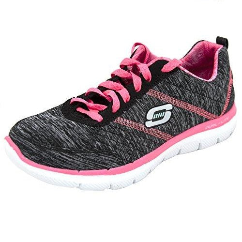 Skechers Sport Women's Flex Appeal 2.0 Fashion Sneaker Black Hot Pink