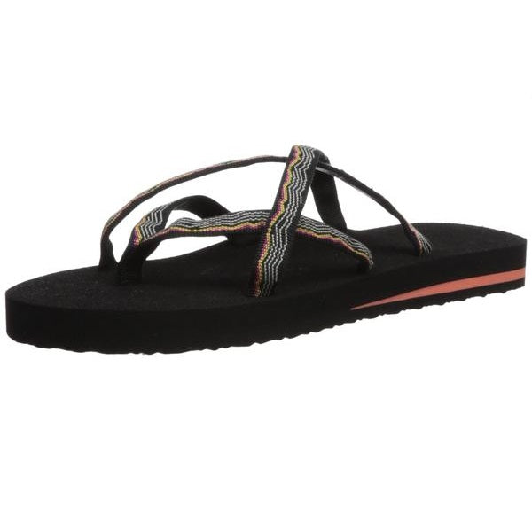 Teva Women's W Olowahu Flip-Flop Vida Black Orange