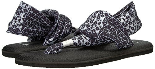 Sanuk Women's W Yoga Sling 2 Prints Sandal Black Ojai Folk