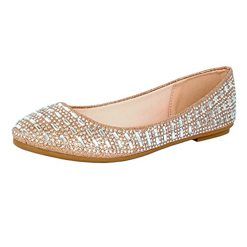 Guilty Heart Princess Classic Slip On Ballerina Ballet Flats Flats Rose Line