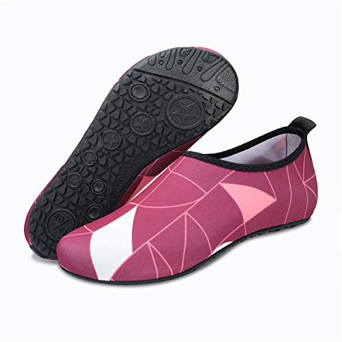 Womens Fashion Beach Water Shoes for Pool Aerobics Red White