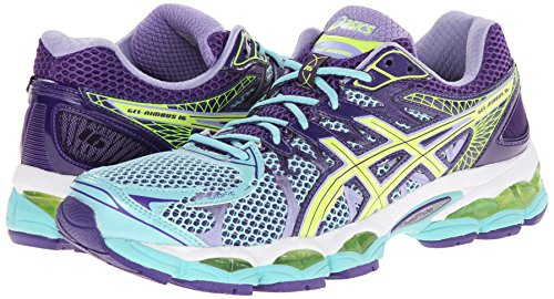 Guilty Gel ShoesAsics Nimbus 16 Ice Blueflash Yellow Women's DYWH2E9I