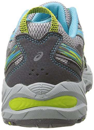 ASICS Women's Gel-Venture 5 Running Shoe, Silver Grey/Turquoise/Lime Punch