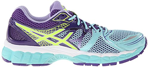 ASICS Women's GEL-Nimbus 16 Ice Blue/Flash Yellow/Purple Sneaker