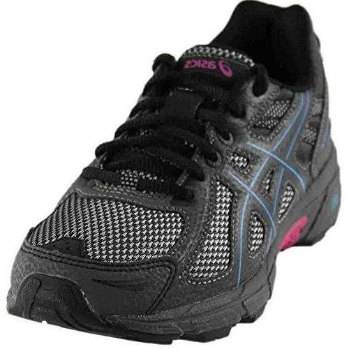 ASICS Women's Gel-Venture 6 Running-Shoes Black Island Blue Pink