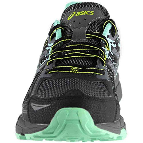 ASICS Women's Gel-Venture 6 Running-Shoes Black Carbon Green